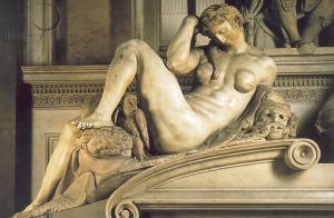 Michelangelo's Night sculpture