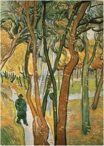 the walk - falling leaves  Vincent Van Gogh