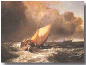 turner had a thing for turbulent seas and turbulent landscapes sprinkled with a few idylls, just for confusion's sake